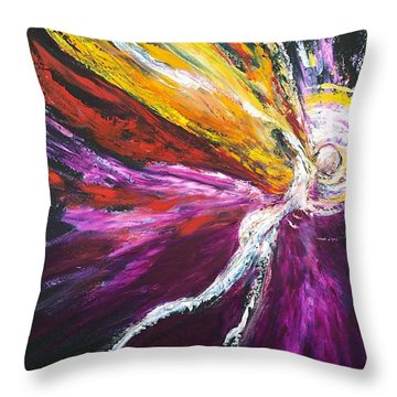 Throw Pillow featuring the painting Light Fairy by Marat Essex