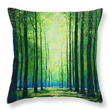 Light From Green Throw Pillow