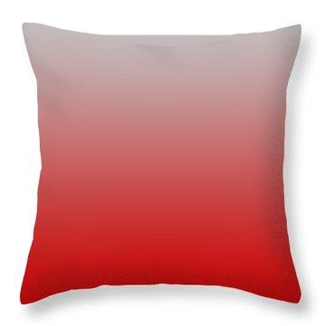 Light Gray Ombre Throw Pillow