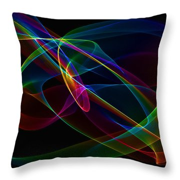 Light I Abstract Throw Pillow