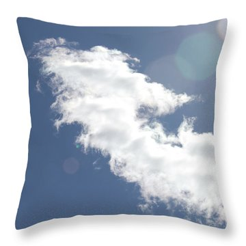 Light In Cloud Flare Throw Pillow