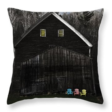 Light In The Barn Attic Throw Pillow