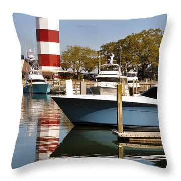 Light In The Harbor Throw Pillow