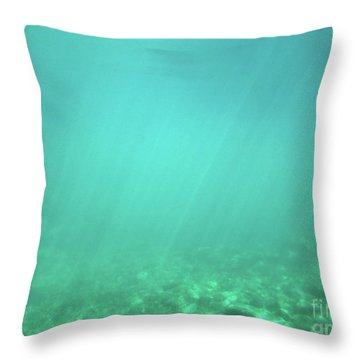 Throw Pillow featuring the photograph Light In The Water by Francesca Mackenney
