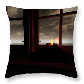 Light In The Window Throw Pillow