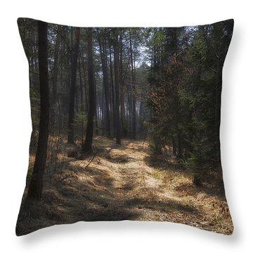 Light In The Wood Throw Pillow