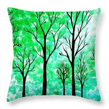 Into The Woods Throw Pillows