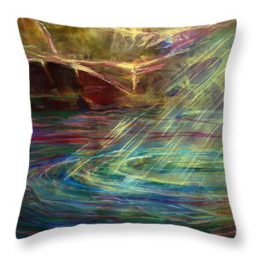 Light In Water Throw Pillow by Allison Ashton