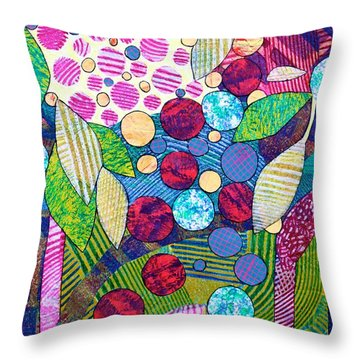 Light Infused Forest Throw Pillow