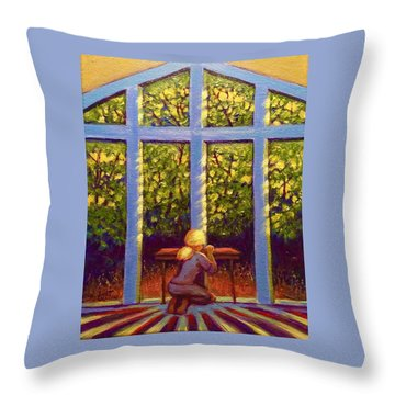 Throw Pillow featuring the painting Light Lit by Jeanette Jarmon