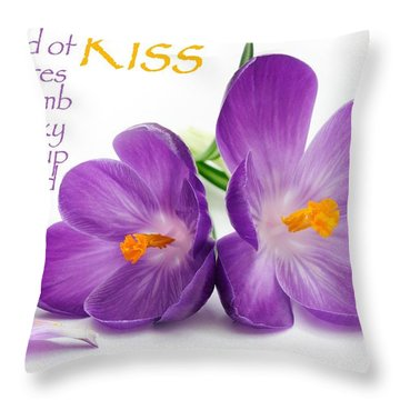 Light My Lips Throw Pillow