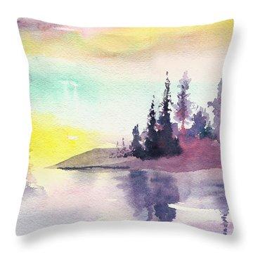 Light N River Throw Pillow