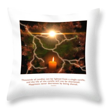 Throw Pillow featuring the photograph Light Of A Single Candle by Kristen Fox