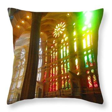 Light Of Gaudi Throw Pillow