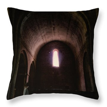 Throw Pillow featuring the photograph Light Of God by Rasma Bertz