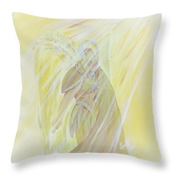 Light Of God Surround Us Throw Pillow