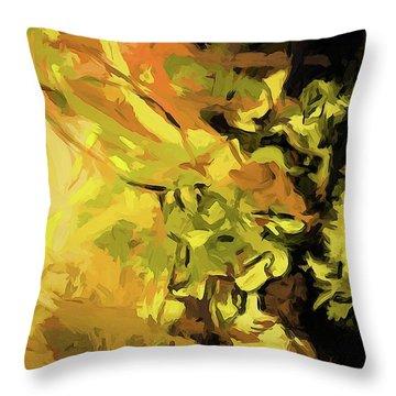 Light Of Gold Throw Pillow