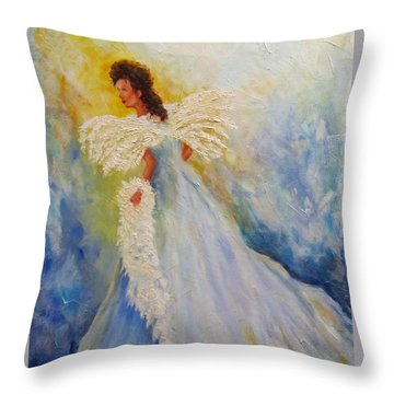 Light Of Grace,angel Throw Pillow