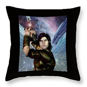Light Of Saint Michael Throw Pillow