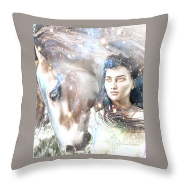 Throw Pillow featuring the painting Light Of The Mohawks by Suzanne Silvir