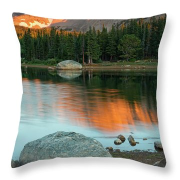 Light Of The Mountain Throw Pillow by John De Bord