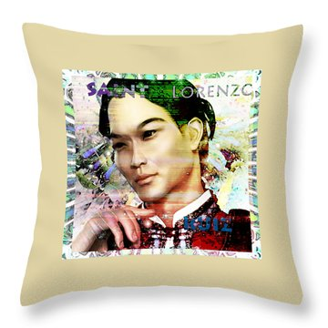 Throw Pillow featuring the painting Light Of The Phillipines by Suzanne Silvir