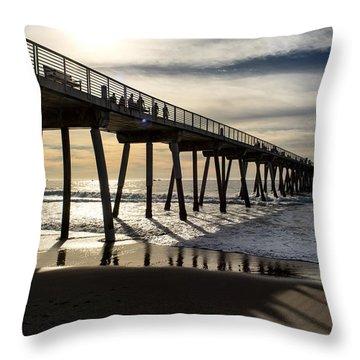 Light Of The Pier  Throw Pillow