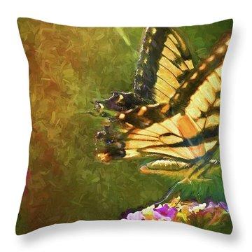 Light On Beauty Throw Pillow