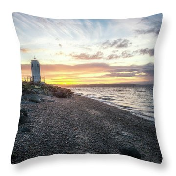 Light On Puget Sound Throw Pillow