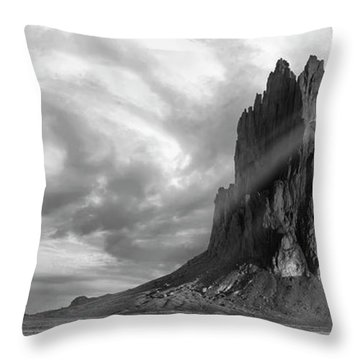 Throw Pillow featuring the photograph Light On Shiprock by Jon Glaser