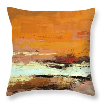 Light On The Horizon Throw Pillow by Nathan Rhoads