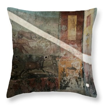 Light On The Past Throw Pillow