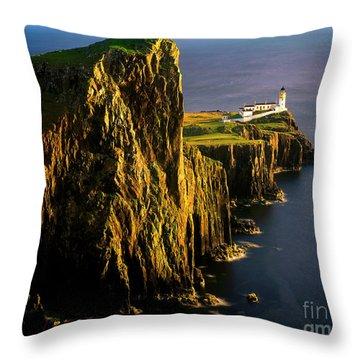Light On The Rock Throw Pillow