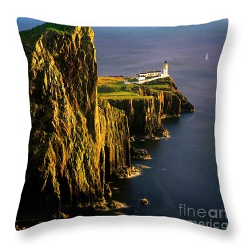 Light On The Rock Throw Pillow