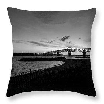 Light Over Bridge Throw Pillow