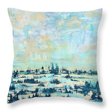 Throw Pillow featuring the painting Light Over Broad Creek by Kathryn Riley Parker