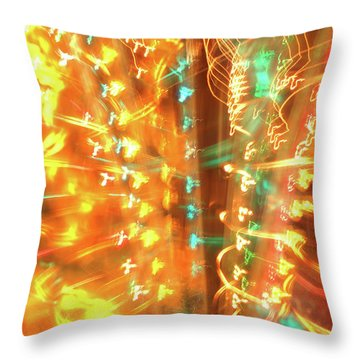 Light Painting 1 Throw Pillow