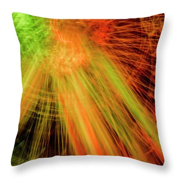 Light Painting At Night Throw Pillow