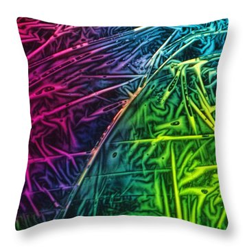 Light Painting Colors Abstract Experimental Chemiluminescent Photography Throw Pillow
