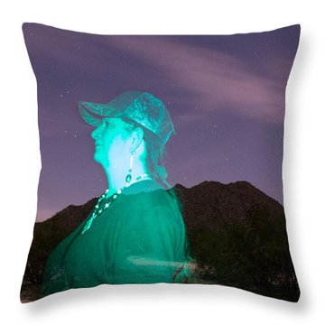 Light Painting In Arizona Throw Pillow