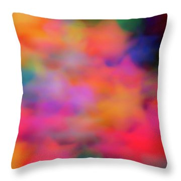 Lucky Neon Stars Throw Pillow