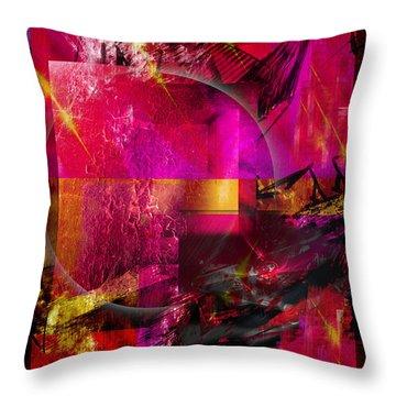 Light Particles Throw Pillow