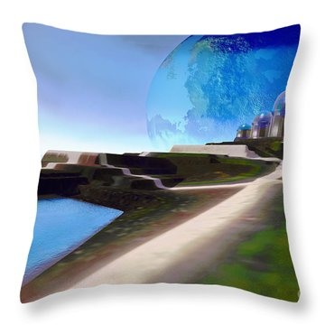 Light Path Throw Pillow by Corey Ford