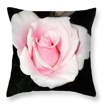 Light Pink Rose Throw Pillow