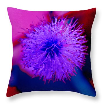 Light Purple Puff Explosion Throw Pillow by Samantha Thome