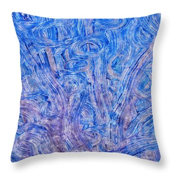 Throw Pillow featuring the mixed media Light Race 2 by Sami Tiainen