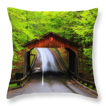 Light Rain On Pierce Stocking Drive 2 Throw Pillow