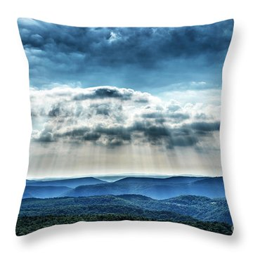 Throw Pillow featuring the photograph Light Rains Down by Thomas R Fletcher