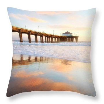 Light Reflections Throw Pillow by Nicki Frates