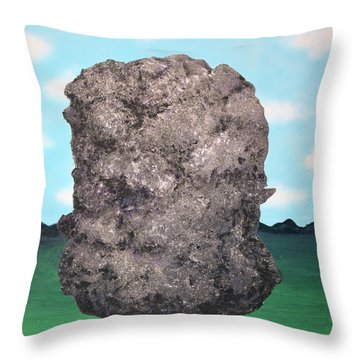 Light Rock Throw Pillow by Thomas Blood